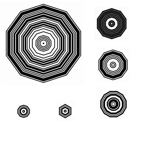 Volledige pagina van geometrische patronen Pinwheel