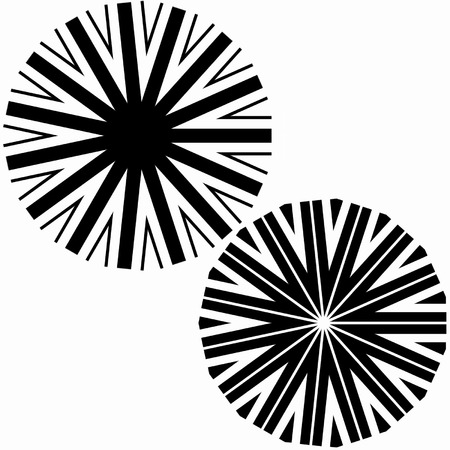 Pinwheel geometric pattern in black and white Vector