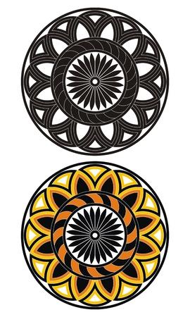 grecas: Patr�n decorativo con la imagen de la vegetaci�n