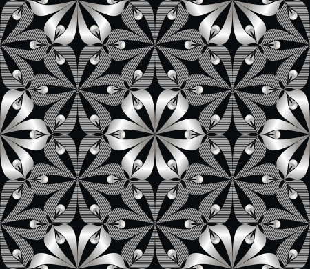 Wallpaper seamless with a flower pattern Vector