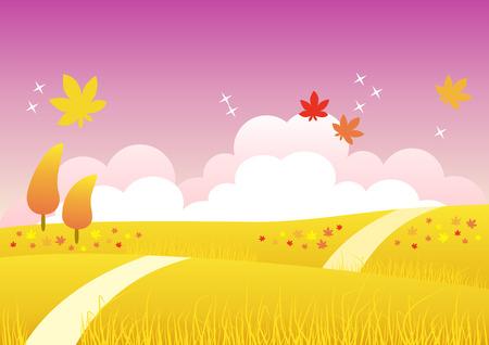 Four Seasons: Autumn Stock Vector - 3621822