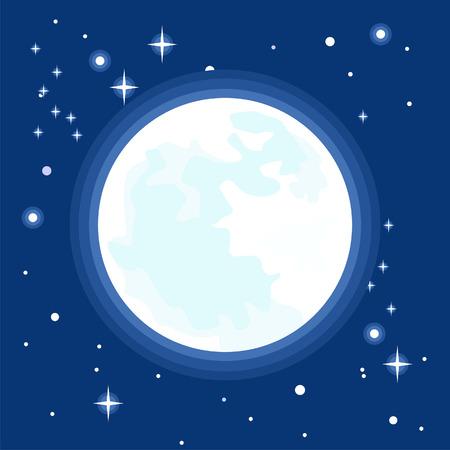 Full Moon Stock Vector - 3650854