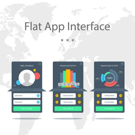 barchart: Flat App Interface