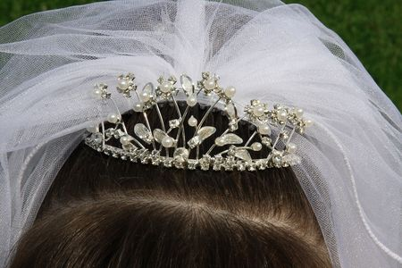 bead embroidery: bridal tiara