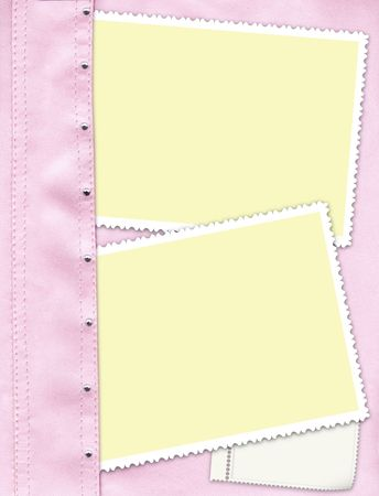 strass: photos on a pink Leather background with Srtasses Stock Photo