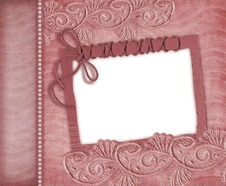 fragmentary:  pink frame with lace