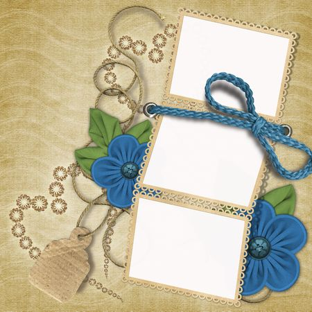 fragmentary:  frame with flowers Stock Photo