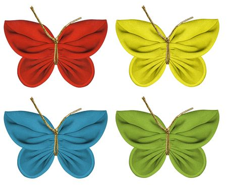 fabric butterflies Stock Photo - 3113934
