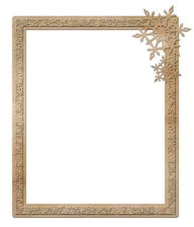 vintage photo border: Cardboard winter frame