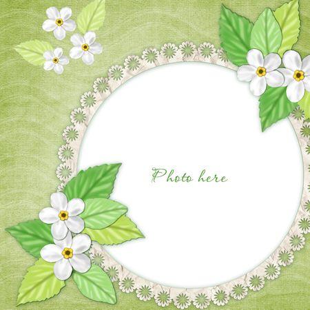 lace edges: Spring frame