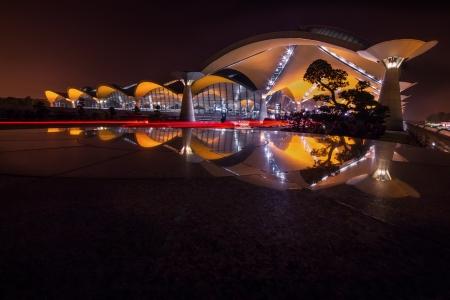 the back gate: Malaysia s Kuala Lumpur International Airport night view