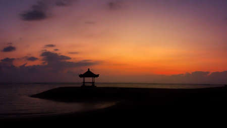 sanur: Sunrise on the Beach in Sanur, Bali, Indonesia Stock Photo