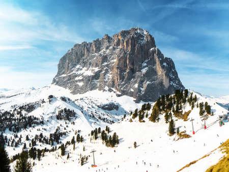 europe: Langkofel Mountain in Dolomites, South Tyrol, Italy