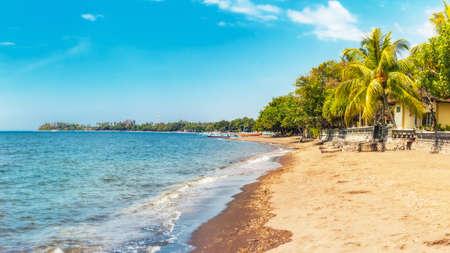 bali beach: Beach at Lovina, Bali, Indonesia