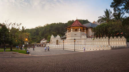 Temple of the Sacred Tooth Relic in Kandy, Sri Lanka