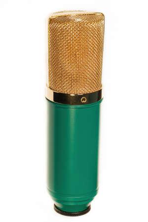 cardioid: Estudio de la vendimia Micrófono condensador aislado en blanco