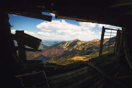 mala fatra: Abandoned Hut in Mala Fatra National Park, Slovakia Stock Photo