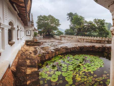 sri lanka temple: Dambulla Cave Temple also known as Golden Temple, Sri Lanka Stock Photo