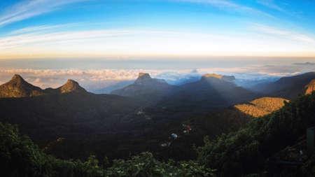 pada: Shadow of Adams Peak at Sunrise, Sri Lanka