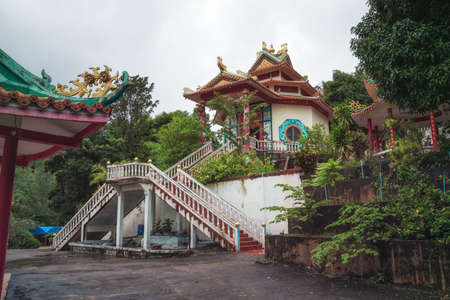 Inside the Chinese Temple on Koh Phangan Island, Thailand Stock Photo