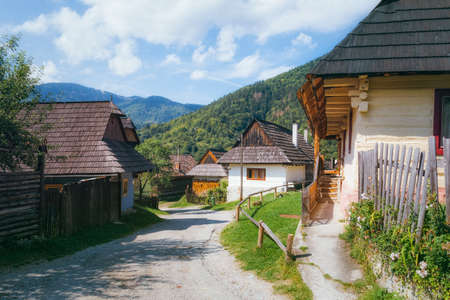 ruzomberok: Typical Traditional Wooden Houses in Village of Vlkolinec