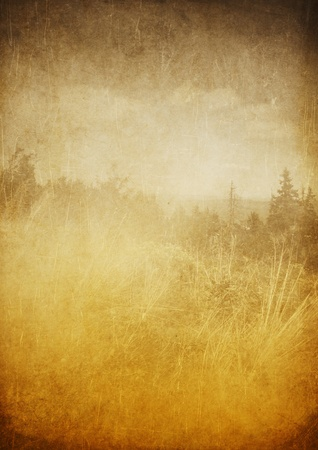 retro sunrise: Nature grunge background