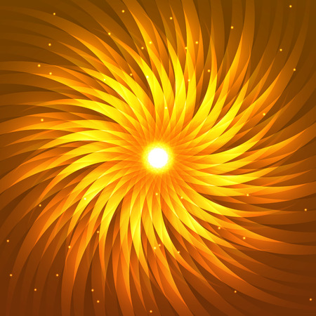 Vector flower abstract illustration