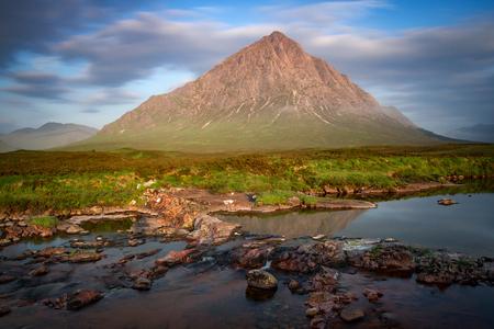 glencoe: Buchaille Etive Mor, Glencoe at sunrise in the summer of 2016