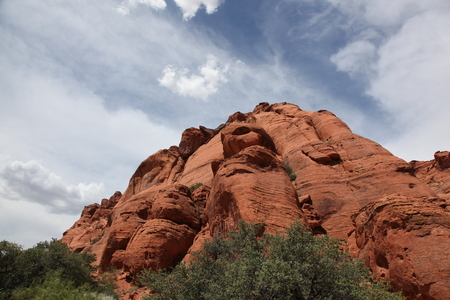 Red rock mountains of Snow Canyon State Park Utah