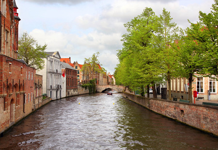 Charming canals of Bruges Belgium
