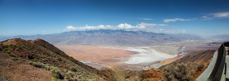 Panoramic view of the valley and salt flat of Death Valley National Park from Dante's View