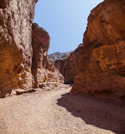Natural Bridge Canyon hiking trail in Death Valley National Park 版權商用圖片