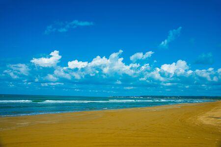 Chirihama Nagisa Drive way in Ishikawa, Japan. Japan's only beach you can drive by the car.
