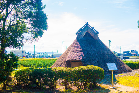 Fudodo ruins in Toyama, Japan. Japanese old house which people used to live in the Jomon period.