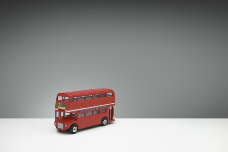 route master: red Die cast miniature London Route Master bus Stock Photo