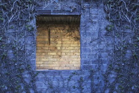 desertion: close up of a Derelict building