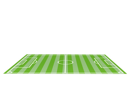 football pitch: Table Top Football Pitch on a white background Stock Photo