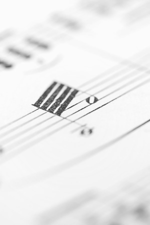 musical score: Old Musical Score Sheet Stock Photo