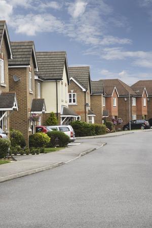 suburban: a Suburban residential street Stock Photo