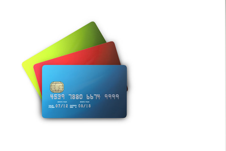 Credit cards and  bank cards Imagens