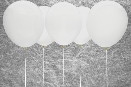 White party balloons Imagens
