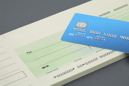 debit: Cheque book and bank card