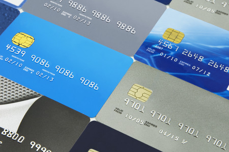Credit cards and  bank cards Фото со стока