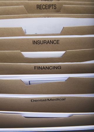 filing system: home filing dividers for house finance