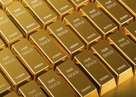 close up of Gold Bars Imagens