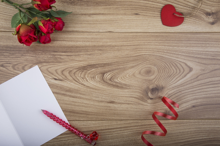 Valentines Day Concept with copy space in the centre