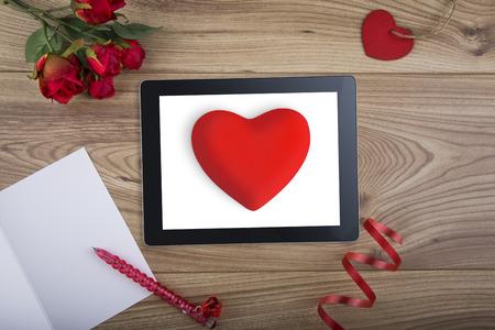 Computer Tablet for Internet Dating concept