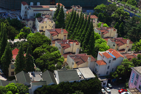uptown: aerial view of villa