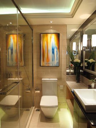bathroom interior: interior of modern bathroom Editorial