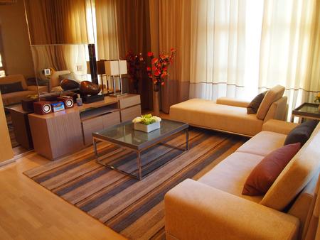 modern living room: interior of living room